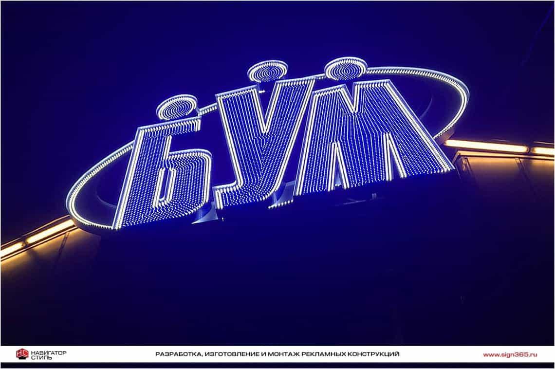 Объемные буквы светодиодные
